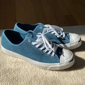 Men's Converse Jack Purcell RARE Teal Corduroy